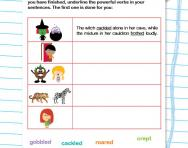 Using powerful verbs worksheet