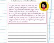 Using punctuation to improve writing worksheet