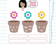 Using sounds to make words worksheet