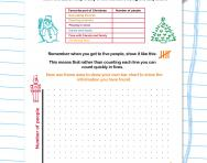 Using tally and bar charts worksheet