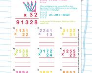 Using the long multiplication method worksheet