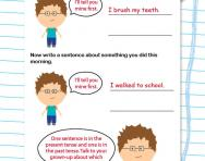 Using the present and past tense worksheet