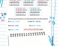 Using the subtraction column method
