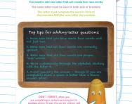 Verbal reasoning worksheet: Adding a letter to make words practice