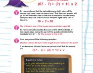 Verbal reasoning worksheet: Equations practice