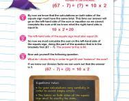 Verbal reasoning worksheet: Equations practice