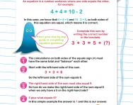 Verbal reasoning worksheet: Introduction to maths equations