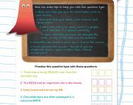 Verbal reasoning worksheet: Missing three-letter words practice