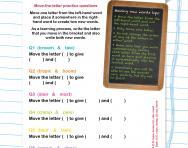 Verbal reasoning worksheet: Moving letters and making new words practice