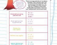 Verbal reasoning worksheet: Number relationships practice