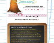 Verbal reasoning worksheet: Number series practice