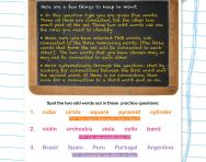 Verbal reasoning worksheet: Word sets practice