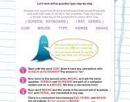 Verbal reasoning worksheet: Words with two meanings