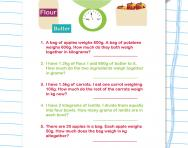 Weight word problems worksheet