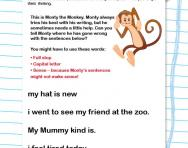 What is a sentence? worksheet