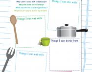 What's in your kitchen cupboard worksheet