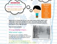 Winter nights poem worksheet