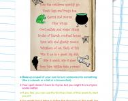 Witch's spell poem worksheet