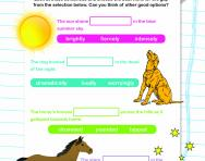 Word choice worksheet