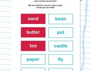 Word split: compound words puzzle