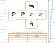 Words ending in -ing and -ly worksheet