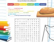Wordsearch: 'ea' words