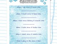 Write a poem about snow worksheet