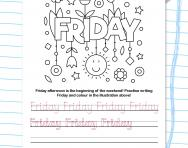 Write the days of the week: Friday