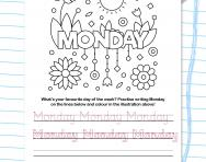 Write the days of the week: Monday