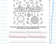 Write the days of the week: Wednesday