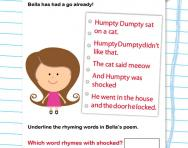 Write your own rhyme worksheet
