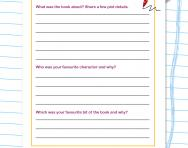 Writing a book review in KS2 template