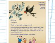 Writing a letter to a pen friend worksheet