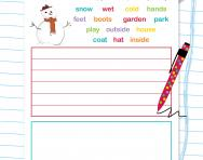 Writing a story worksheet