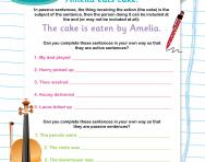Writing active and passive sentences worksheet