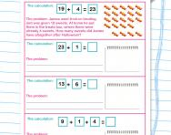 Writing addition word problems worksheet