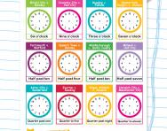 Writing analogue time football worksheet