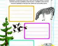 Writing haiku poems worksheet