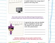 Writing lists and using colons worksheet
