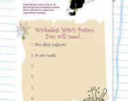 Writing lists practice worksheet