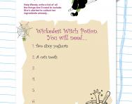 Writing lists practice worksheet