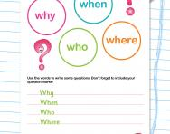 Writing questions worksheet