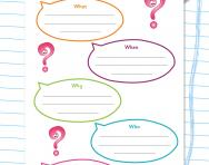 Writing questions with wh words worksheet