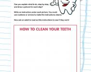 Writing step-by-step instructions worksheet