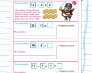 Writing subtraction word problems worksheet