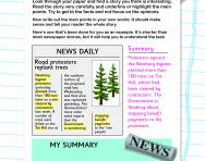 Writing summaries of news reports