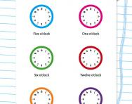 Writing the time to the hour worksheet