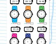 Writing time to the nearest minute worksheet
