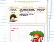 Writing titles and blurbs worksheet