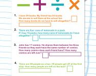 Y3 problem-solving: all four operations worksheet